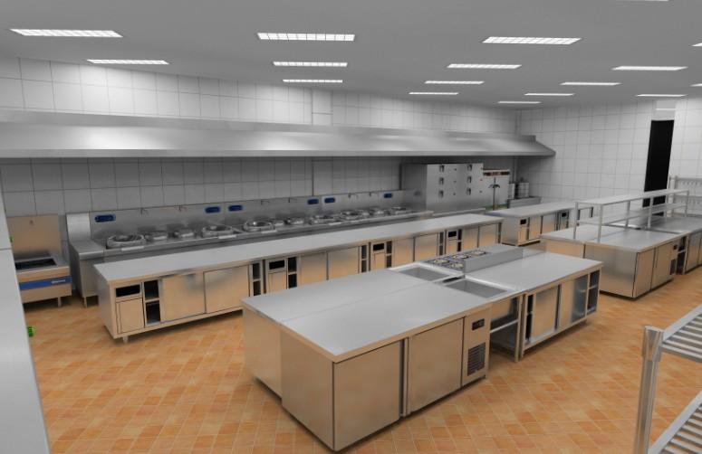 食堂厨房设计图片